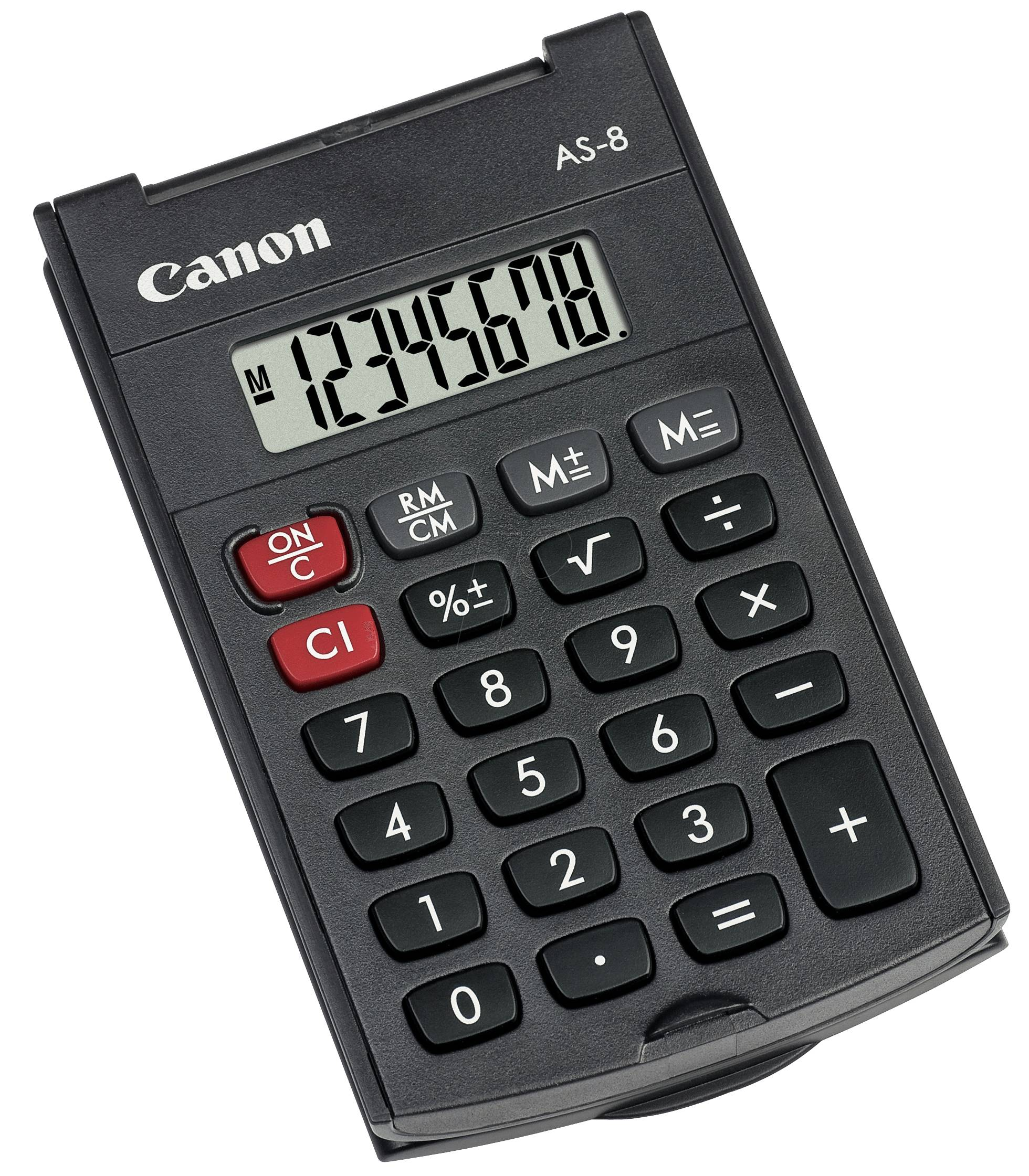 Canon AS-8 - Calculator, black