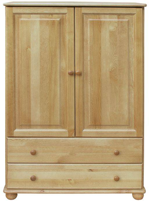Steiner Shopping Furniture 2 Drawer, 2 Door Storage Cabinet Junco 156, solid pine wood, clearly varnished -
