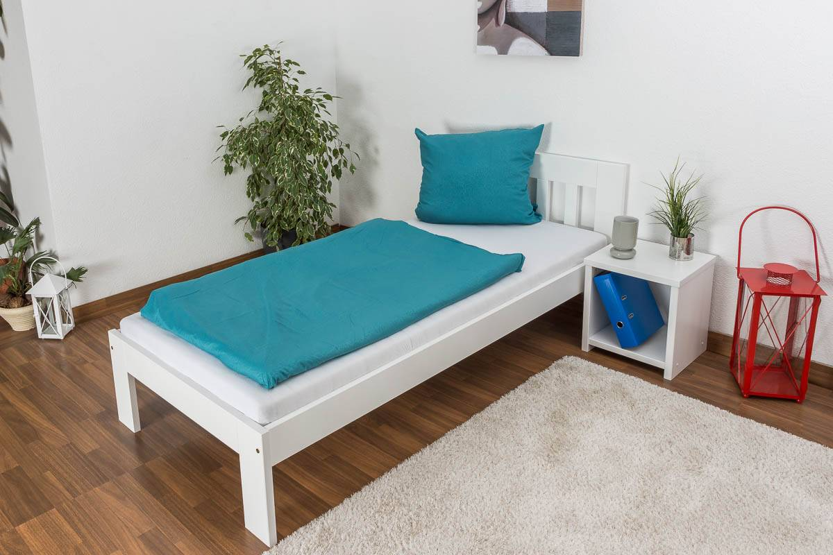 Steiner Shopping Furniture Single bed / Day bed solid pine wood, in a white paint finish 76, includes slatt