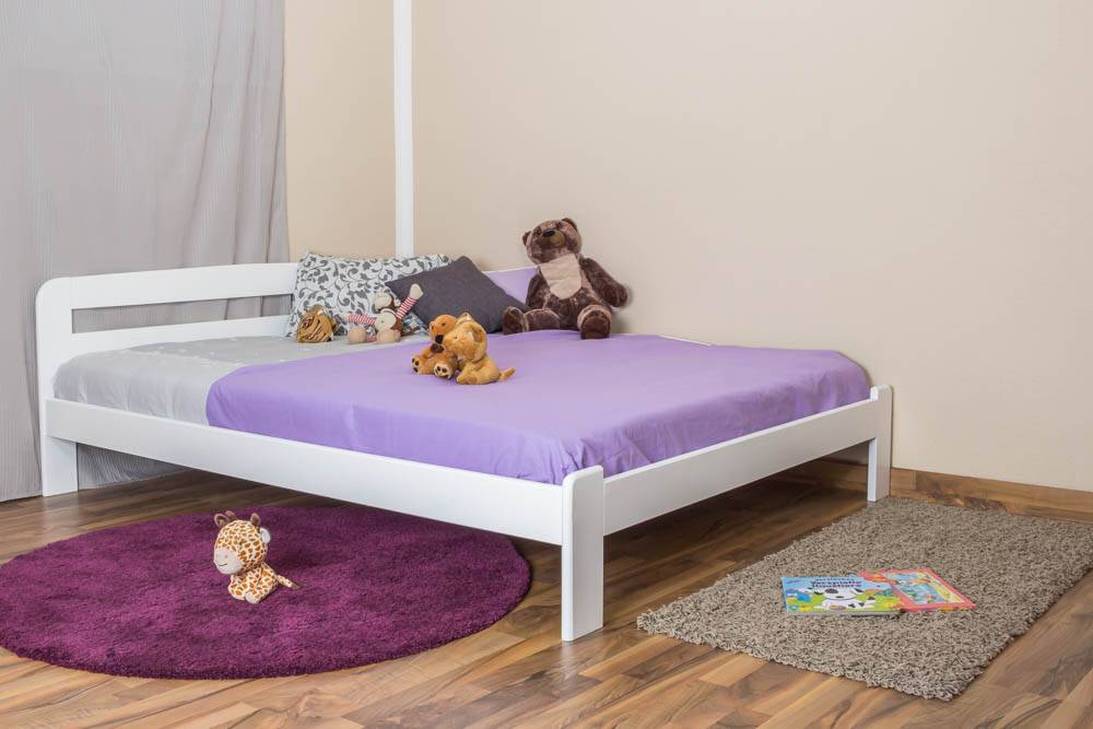 Steiner Shopping Furniture Youth bed A5, solid pine wood, white finish - 160 x 200 cm