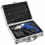 Xenta 3.6V Lithium-ion Cordless Screwdriver with 104 Piece Accessory K