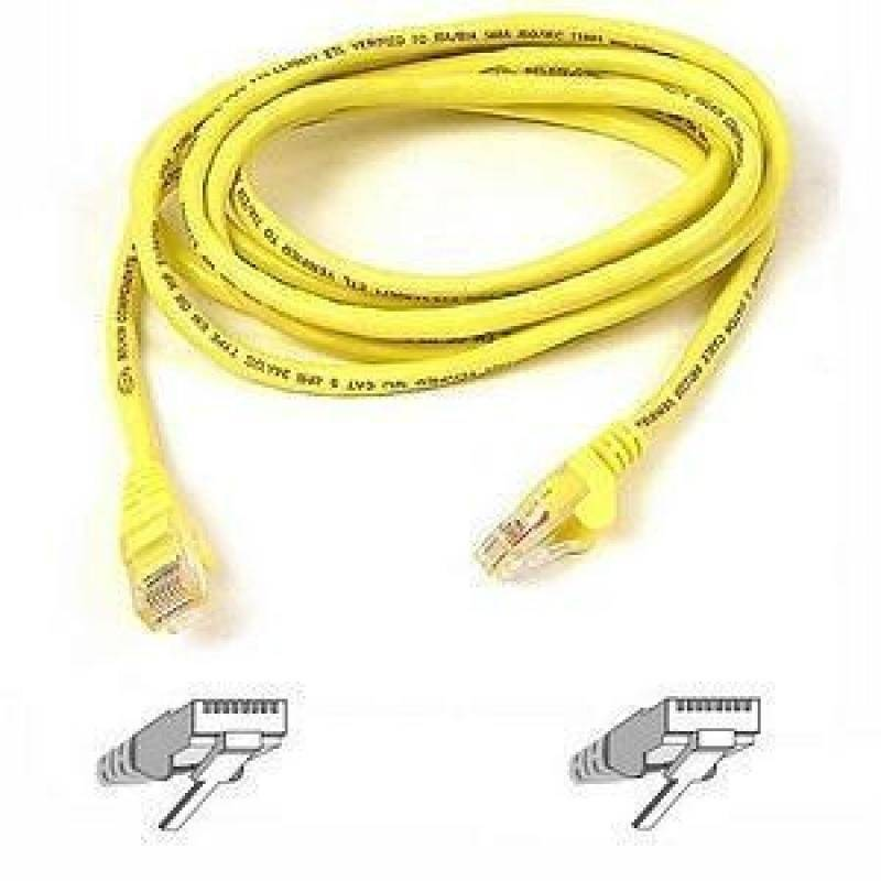 Belkin Cat5e Assembled UTP Patch Cable (Yellow) 15m