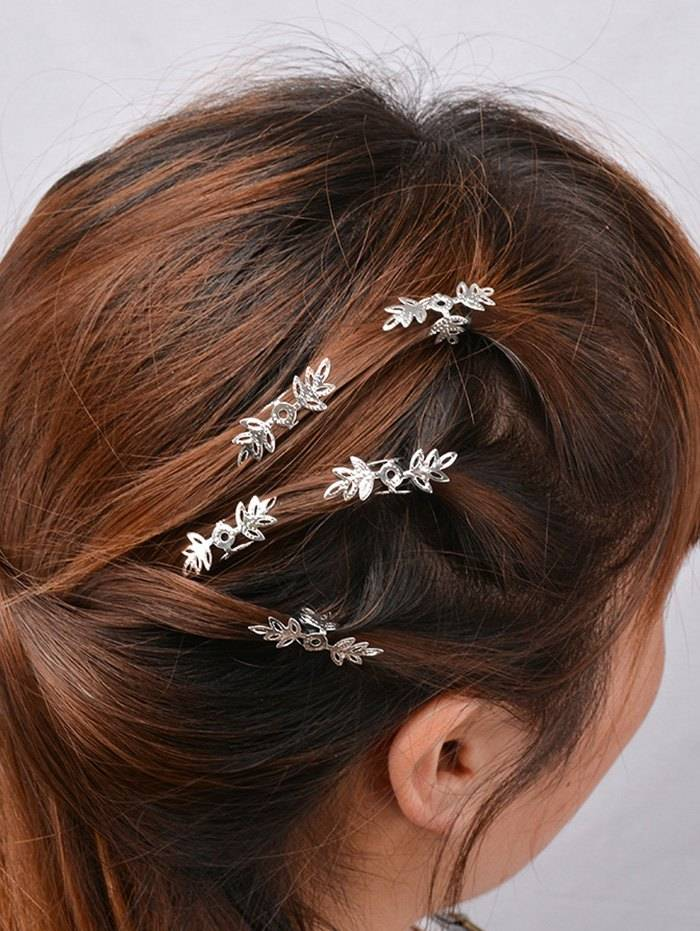 ZAFUL 5PCS Openwork Floral Hair Accessory Set (Sizes: )