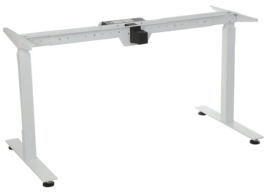 FOPOL - ST Steel desk frame with electric height adjustment, white colour. STE-01T