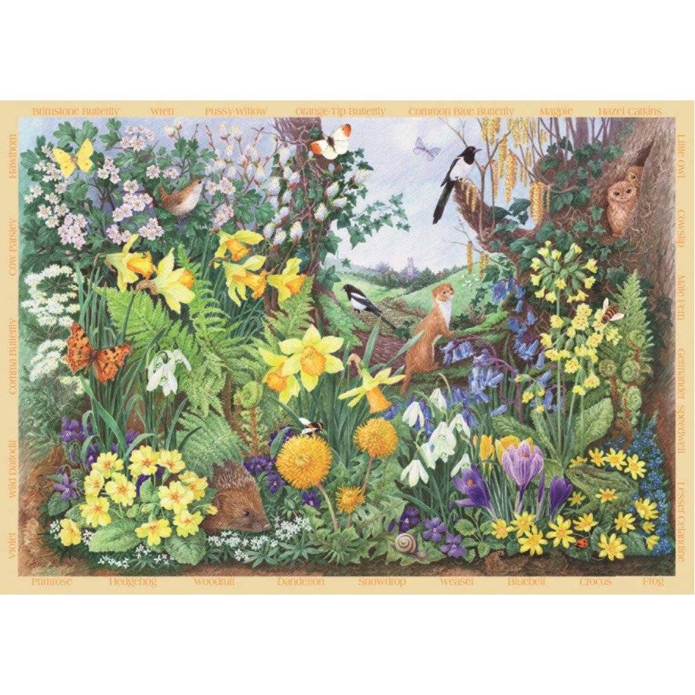 Falcon Deluxe Spring Hedgerow Jigsaw Puzzle (200 Xl Pieces)