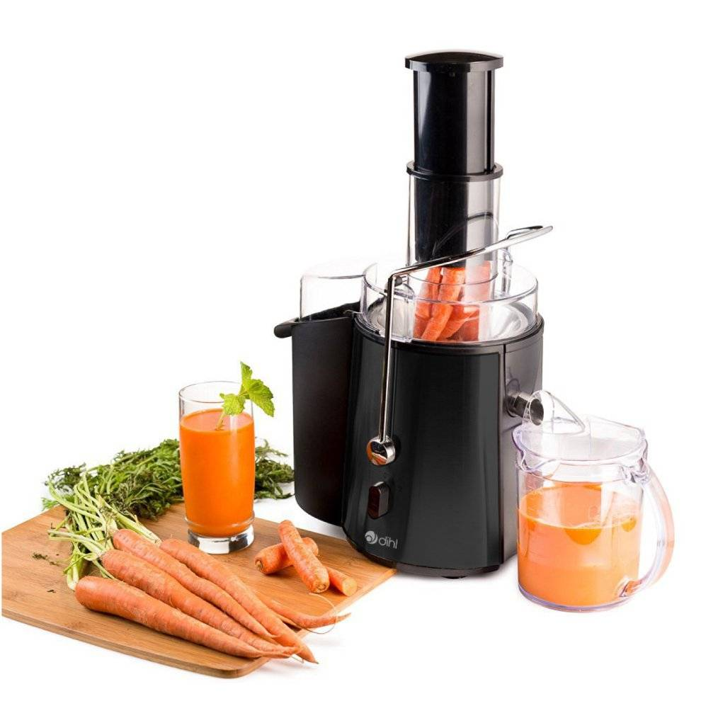 Dihl Black - Dihl 850w Whole Fruit Vegetable Citrus Extractor Centrifugal Power Juice