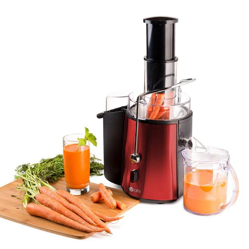 Dihl Red - Dihl 850w Whole Fruit Vegetable Citrus Extractor Centrifugal Power Juicer