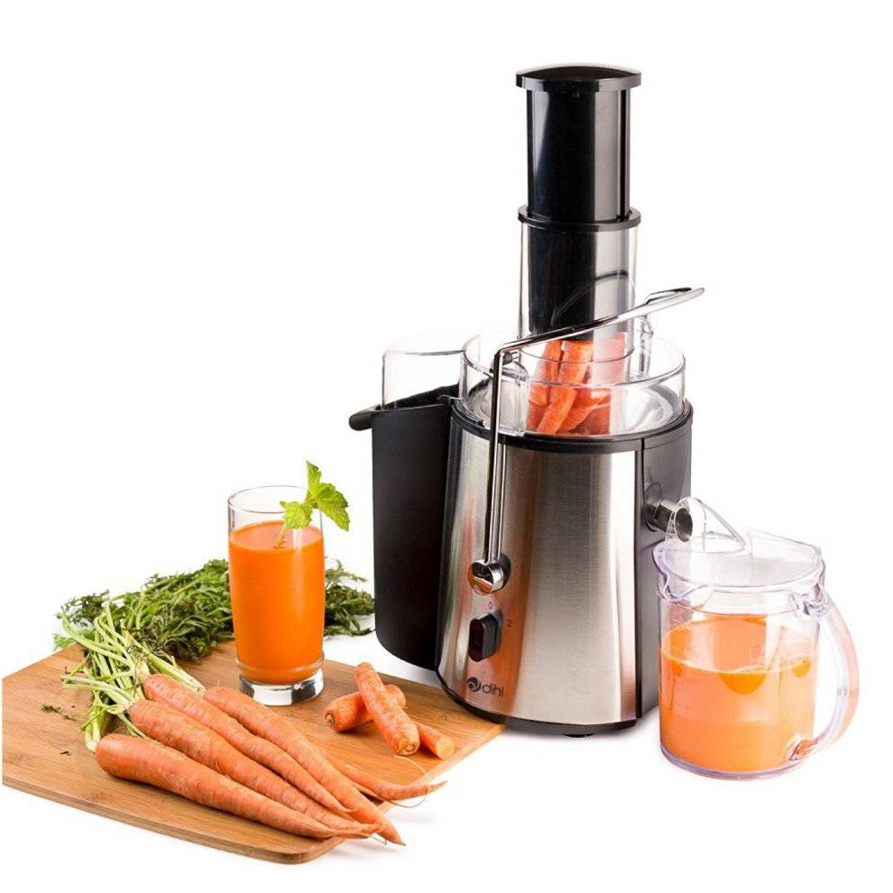 Dihl Stainless Steel - Dihl 850w Whole Fruit Vegetable Citrus Extractor Centrifugal P