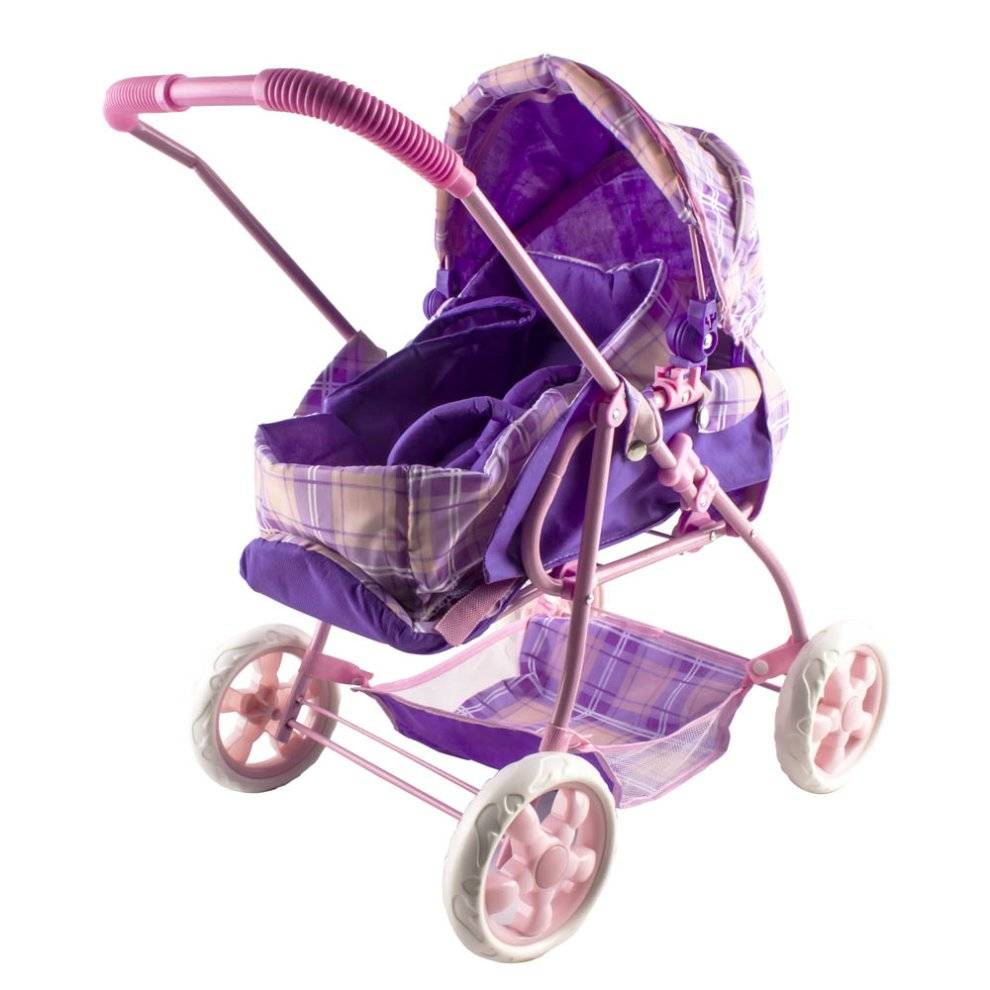 deAO Toys deAO Baby Doll Buggy Pram With Detachable Cozy Toes Carrier in Classic Design (P
