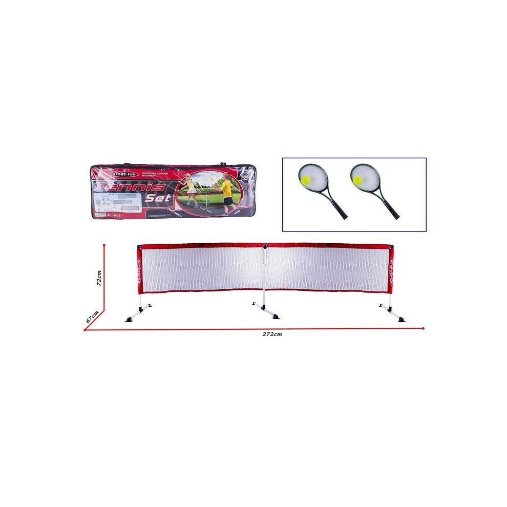 deAO Toys deAO Tennis Game Set For Kids And Family Activities Includes Net with Frame, Rac