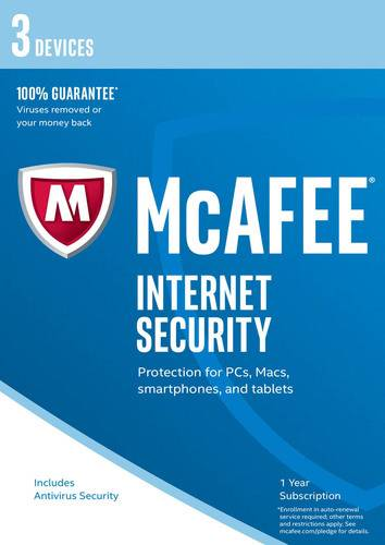 McAfee Internet Security 2017 3 Devices / 12 Months, ESD (Download) (PC)
