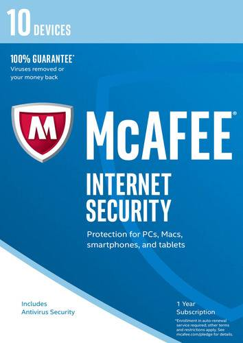 McAfee Internet Security 2017 10 Devices / 12 Months, ESD (Download) (PC)