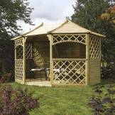 Rowlinson 10x13 Sandringham Wooden Gazebo - Home Delivered