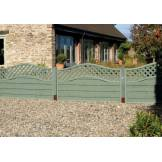 Grange Woodberry Fence Panels Green (H)1.05m x (W)1.8m - Pack of 3