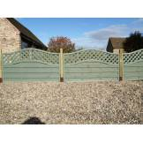 Grange Woodberry Fence Panels Green (H)1.05m x (W)1.8m - Pack of 10