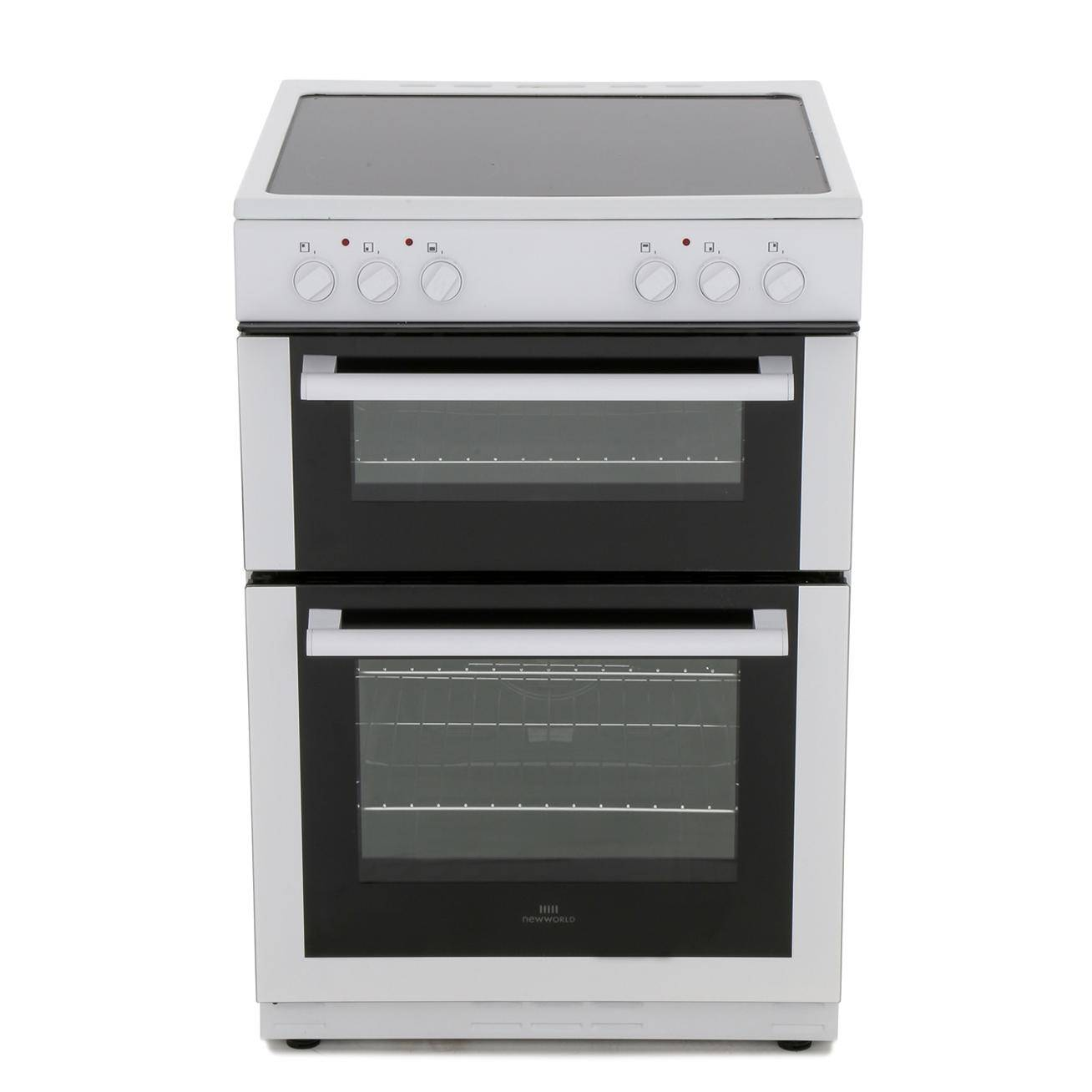 New World White Ceramic Electric Cooker with Double Oven