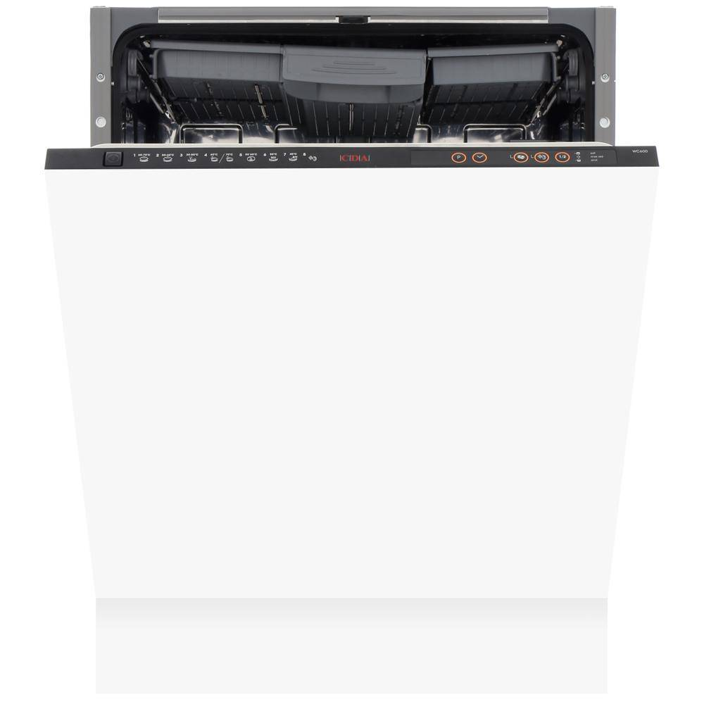 CDA WC600 Built In Fully Integrated Dishwasher - Black