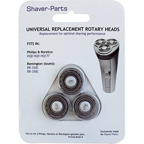 Shaver-Parts Universal Replacement Shaving Head for Philips Pack of 3 Original No.: HQ8/HQ9/HQ177