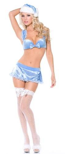 Smiffy's Fever Winter Wonderland Lingerie - Small