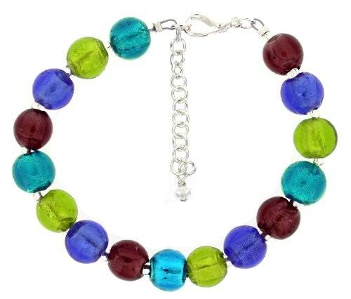 The Jewellery Factory Bright Mix Murano Style Bead Bracelet of 23.5cm