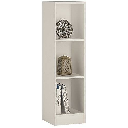 Furniture 2 Go Furniture To go 4 YOU Medium Narrow Bookcase with Melamine, 30 x 112 x 35 cm, Pearl White