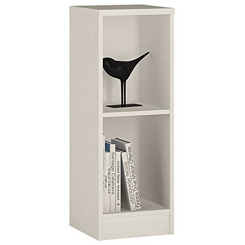 Furniture 2 Go Furniture To Go 4 YOU Low Narrow Bookcase with Melamine, 30 x 86 x 35 cm, Pearl White