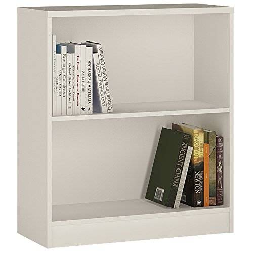 Furniture 2 Go Furniture To Go 4 YOU Low Wide Bookcase with Melamine, 74 x 85.5 x 34.6 cm, Pearl White