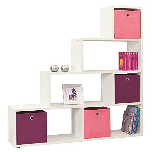 Furniture 2 Go Furniture To Go 4 YOU Room Divider with Melamine, 148 x 149 x 33 cm, Pearl White