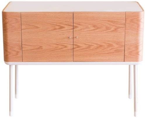 Stil-Furniture Stil Furniture Pad Sideboard, Oak Veneer/Satin White