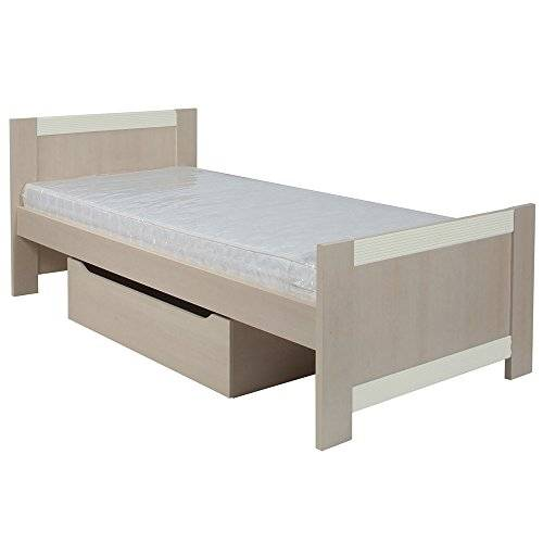 Furniture 2 Go Furniture To Go Fanfair Single Bed with Under Drawer, 100 x 80 x 206 cm, Cream