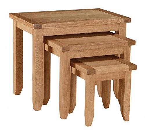 Heartlands Furniture Stirling Nest of Tables, Oak