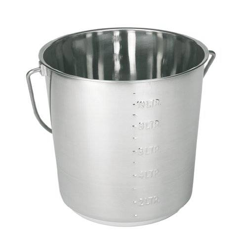 Pet Supplies Albert Kerbl Gmbh Kerbl Stainless Steel Bin 12.3 Litres with Measuring Scale