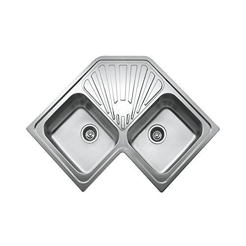 Teka 10118008 Angular Stainless Steel Double Bowl Sink