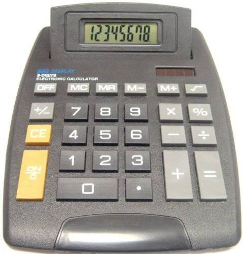 Deet CSA - Desktop Calculator with Pivoting Display. Solar and Battery Powered. 8 Digit Display, Large Size Perfect for Home Office Desk, School, Maths, Accountancy and Finance etc. None Scientific and Easy to Use with Big Screen. Brand New. **Batteries included**