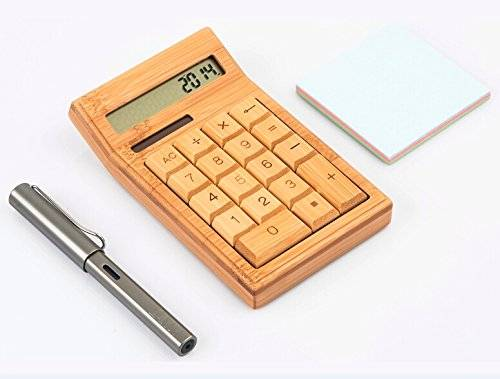 Panda Bamboo Calculator Solar Calculator Made From Finely Crafted Bamboo
