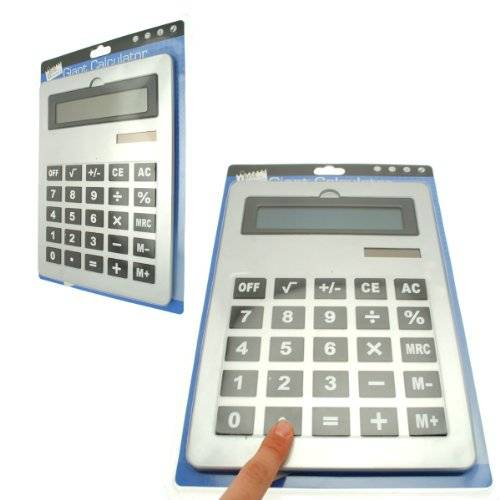 Vibe Giant Calculator A4 Large Calculator 8 Digit Display Dual Power Flip Display