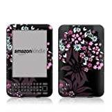 Skinsforconsoles Kindle Keyboard Skin = ( Vinyl decal ) - Dark Flowers