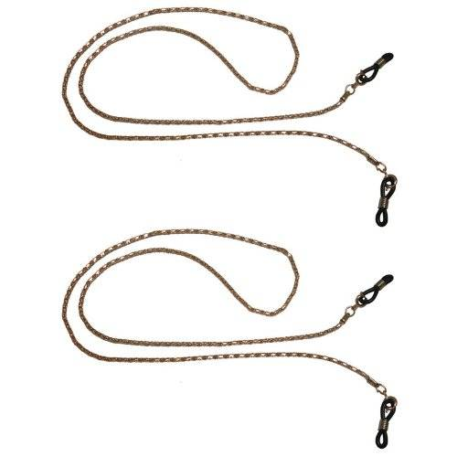 Sunglasses Warehouse 2x Golden Necklace Style Chain Lanyard Neck Cord Spectacle Glasses Strap 403ss
