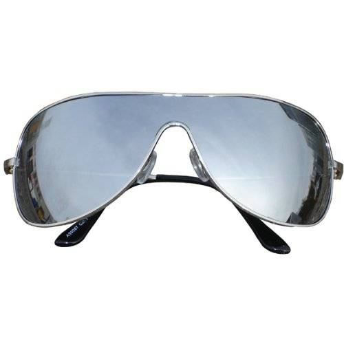 Sunglasses Warehouse Aviator Silver Full Mirror Wrap UV400 Sunglasses A87
