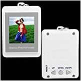 "Lgking Supply 1.5"" USB LCD Digital Photo Picture Frame Keychain White"