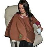 Natural Baby Poncho - 100% Organic Cotton Breastfeeding Cover - Autumnal Brown