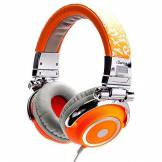 iDance Disco 600 Headphones with 40 mm Driver Silver / Orange