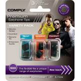 Comply Small 500-Series Variety Pack Foam Ear Tips - Black (Pack of 3)