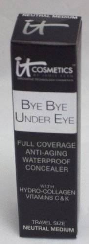 It Cosmetics Bye Bye Under Eye Full Coverage Anti-Aging Waterproof Concealer - Neutral Medium - 0.11 oz Travel Size by It Cosmetics