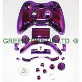 Custom Chrome Purple Ful​l Shell, Parts For Xbox 360 Wireless Controller Mod Kit