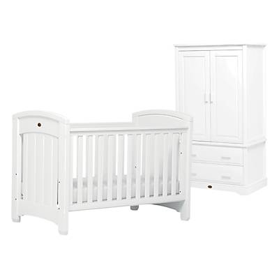 Boori Classic Royale Cotbed and Wardrobe Furniture Set, White