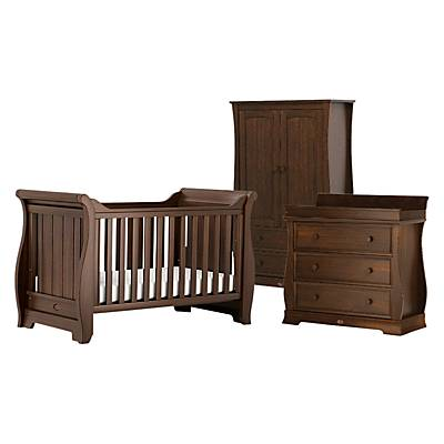 Boori Sleigh Cotbed, Wardrobe and Dresser Furniture Set, English Oak