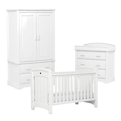 Boori Classic Royale Cotbed, Dresser and Wardrobe Furniture Set, White