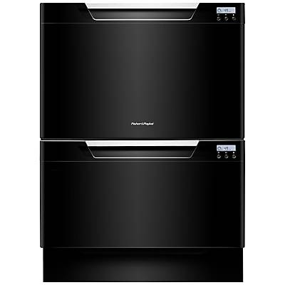 Fisher & Paykel DD60DCHB7 Built-in Double DishDrawer Dishwasher, Black