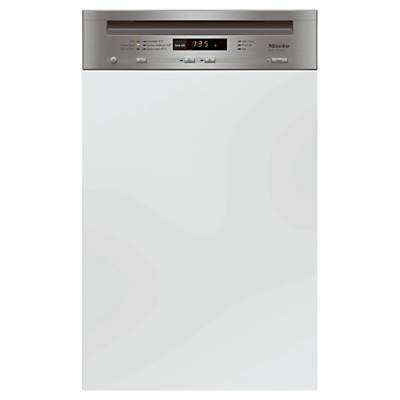 Miele G4700 Sci Semi integrated Dishwasher, Clean Steel